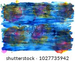 colorful abstract watercolor... | Shutterstock .eps vector #1027735942