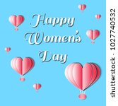 women's day vector illustration ... | Shutterstock .eps vector #1027740532