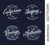 vintage apparel typography... | Shutterstock .eps vector #1027741495