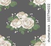 retro floral seamless pattern.... | Shutterstock .eps vector #1027744222
