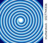 hypnotic blue spiral abstract...   Shutterstock . vector #1027744336