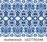 ikat seamless pattern. vector...   Shutterstock .eps vector #1027750348