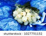 elegant bridal bouquet  made... | Shutterstock . vector #1027751152