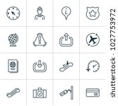 transportation icons set with...