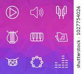 multimedia icons line style set ... | Shutterstock .eps vector #1027754026