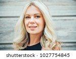 outdoor portrait of beautiful... | Shutterstock . vector #1027754845