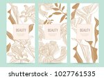 a set of packaging templates... | Shutterstock .eps vector #1027761535