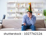 funny man singing songs in... | Shutterstock . vector #1027762126