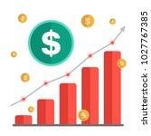 growing money concept. dollar... | Shutterstock .eps vector #1027767385