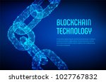 block chain. crypto currency.... | Shutterstock .eps vector #1027767832