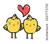 color chicks couple together... | Shutterstock .eps vector #1027771732