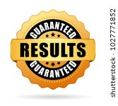results guaranteed gold vector... | Shutterstock .eps vector #1027771852