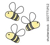 grated cute bees insect animal... | Shutterstock .eps vector #1027771912