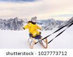 cute  aucasian little boy... | Shutterstock . vector #1027773712