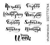 happy week  weekend  monday ...   Shutterstock .eps vector #1027773766