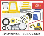 cut and glue the paper... | Shutterstock .eps vector #1027775335