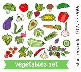 lovely vector set with... | Shutterstock .eps vector #1027777996