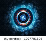 casino roulette and gambling... | Shutterstock . vector #1027781806