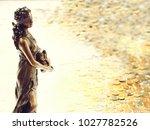 bronze statue of fortune  the... | Shutterstock . vector #1027782526