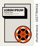 movie and film modern retro... | Shutterstock .eps vector #1027784416
