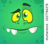 cartoon monster face. vector... | Shutterstock .eps vector #1027786378