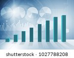 growing bar charts in economic...   Shutterstock . vector #1027788208