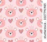 cute seamless pattern for... | Shutterstock .eps vector #1027791985