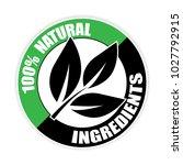 100  natural ingredients... | Shutterstock .eps vector #1027792915