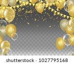 vector party balloons...   Shutterstock .eps vector #1027795168