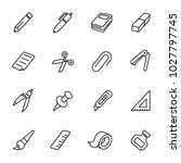 Simple Stationery Icons Set....