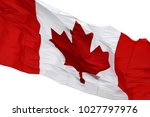 canadian flag waiving on windy... | Shutterstock . vector #1027797976