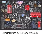 london city doodles elements... | Shutterstock .eps vector #1027798942