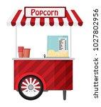 carts retail  kiosk on wheels ... | Shutterstock .eps vector #1027802956