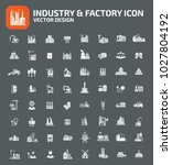 factory and industrial icon set ... | Shutterstock .eps vector #1027804192