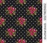 seamless vector ornamental... | Shutterstock .eps vector #1027805002