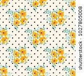 seamless vector ornamental... | Shutterstock .eps vector #1027805008
