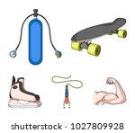 skateboard  oxygen tank for...   Shutterstock .eps vector #1027809928