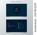 creative business card and name ... | Shutterstock .eps vector #1027813255