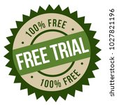 free trial stamp. typographic... | Shutterstock .eps vector #1027821196