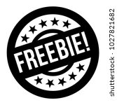 freebie stamp. typographic sign ...