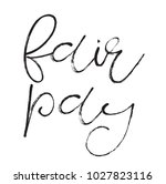 fair pay stamp. typographic... | Shutterstock .eps vector #1027823116