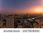 panorama skyline view of... | Shutterstock . vector #1027828342