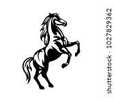Stock vector horse icon vector silhouette 1027829362