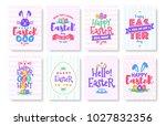 vector happy easter greeting... | Shutterstock .eps vector #1027832356