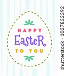 easter greeting card with wish  ... | Shutterstock .eps vector #1027832392