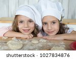 girls  sisters  girlfriends ... | Shutterstock . vector #1027834876