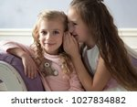 girls  sisters  girlfriends ... | Shutterstock . vector #1027834882