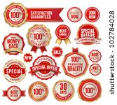 set of business badges and... | Shutterstock .eps vector #102784028