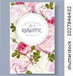 vector vintage floral banner... | Shutterstock .eps vector #1027846432
