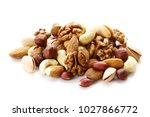 nuts mix for a healthy diet ... | Shutterstock . vector #1027866772